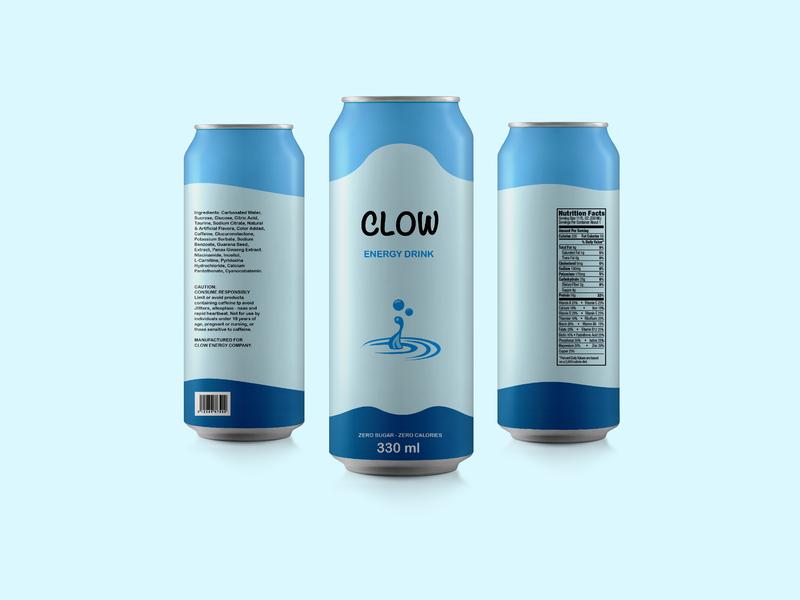 CLOW ENERGY DRINK: Packaging Design product design packaging branding