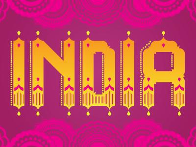 Indiatypography dribbble