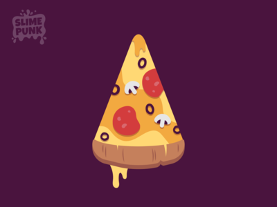 Vector Pizza Slice unity 2d game art game character bread vectorart cafe illustrator vector illustration flat colours icon game asset cheese mushroom flat design pizza slice food pizza 2d vector flat
