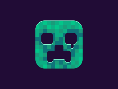 Vector Creeper flat art flat icon character cube vector game assets game art 2d game game green pixel art pixel icon vector illustration vectorart monster minecraft creeper