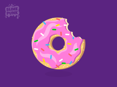 Vector Donut game art food logo logo illustrator illustration food illustration cake cupcake icing yum dessert food treat sweet pink icon vectorart vector doughnut donut