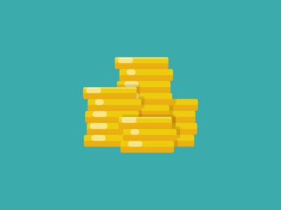 Flat Vector Coin Stack indiegame chest treasure chest treasure game asset game assets coin stack coin coins unity illustration flat art vectorart game art flat icon character vector icon game flat