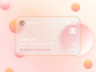 Bank Credit Card Design - Glass Morphism download creditcard credit card banking mobile template design ui design app design branding morphism designs trending shubham deep sdg uiux ux glass. morphism glassy glass design