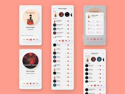 Neumorphic Music Player App UI music player nigerian white minimal neumorphism music app music app design