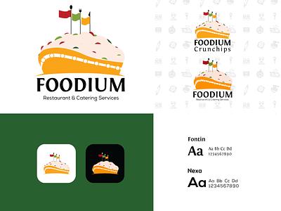 Foodium   Logo Design bakery logo bakery restaurant logo restaurant food logo design logo design nigerian brand identity branding brand design