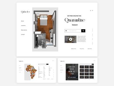 Free Quarantine Shelter Website UI african ux uiux website design website concept website disease shelter quarantine design ui