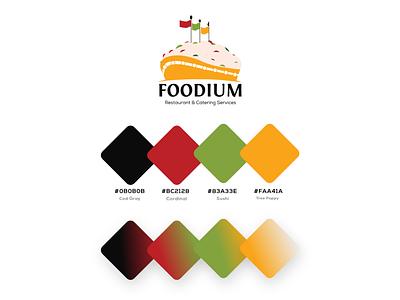 Foodium - Colour Palette nigerian design restaurant colour brand identity brand design
