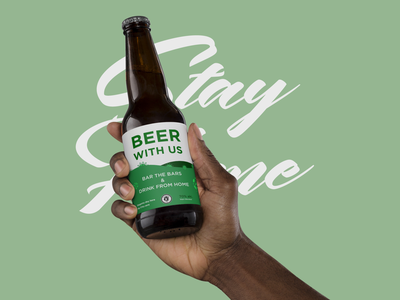 COVID-19 | Beer With Us alcohol alcohol branding product design beer label beer bottle branding beer branding brand design