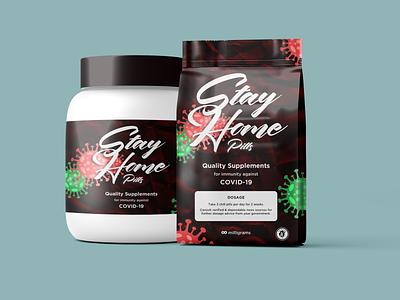 COVID-19 | Stay Home Medication product design supplements covid covid-19 medical care medical brand identity design brand design