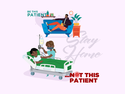 COVID-19 | Be Patient medical care medical wordplay covid covid-19 typography vector illustration