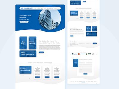 FInance Risk Management Homepage UI user experience user interface material ui material design blue finance web design design ux ui nigerian