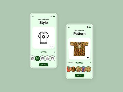 Shirt Tailoring App ui ux adobexd africanprint
