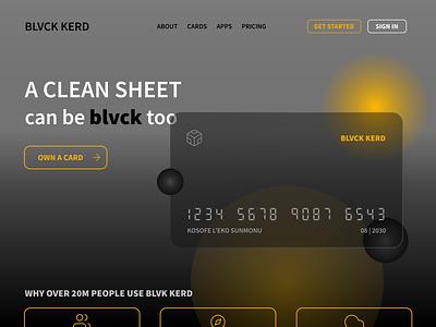 Credit Card Website - Landing Page web design figma design finance virtual card credit card website figma design ui
