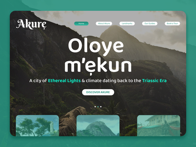 Akure, Nigeria city guide tourism mountains nigerian ui design