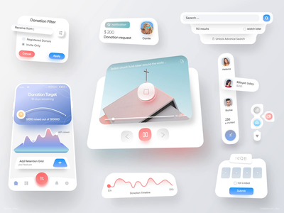 Donate UI KIT Interaction material design mograph illustration typography uber app product design facebook apple google youtube website web app dashboard design webdesign motion design interaction design animation 图标 应用 设计