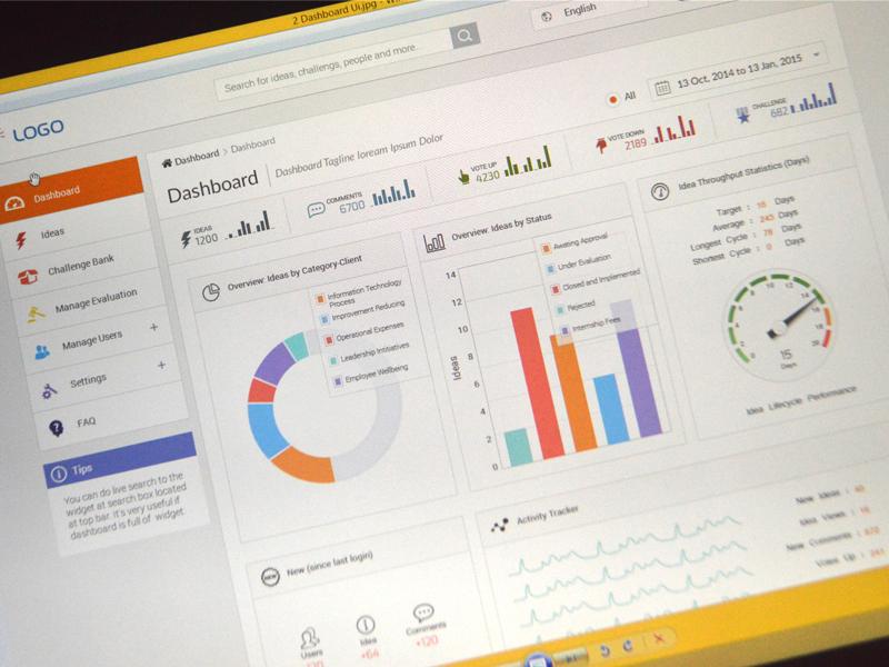 Glint Dashboard WIP dashboard web flat interface chart product analytics form menu ui ux flat design