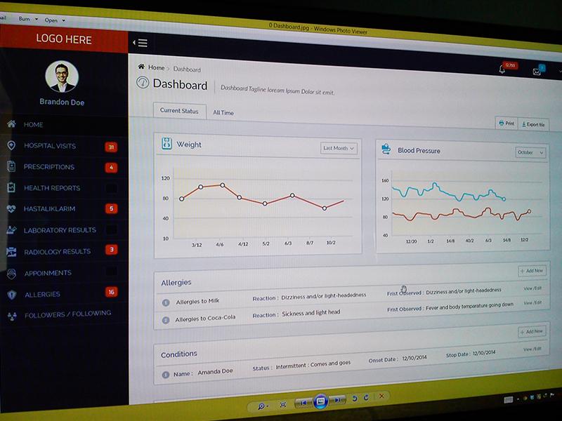 HealthCare Dashboard WIP dashboard web flat interface chart hospital analytics form menu ui ux health
