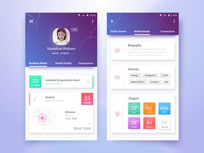 Talent Portal App bangladesh android google web design portfolio profile model creative ios app minimal design flat design ios