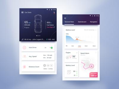 Car Dashboard App bangladesh lyft uber google design material design google calendar car creative ios app minimal design flat design