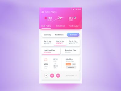 Flight Booking App airport android ticket plane qatar ryanair etihad flight booking material design google emirates airplane