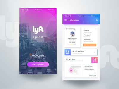 Lyft Advance Book bangladesh google design material design uber google lyft car creative ios app minimal design flat design mobile app