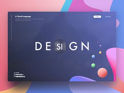 Design Strange+Wonderful landing lyft emirates bangladesh font typography website google design google gradient design