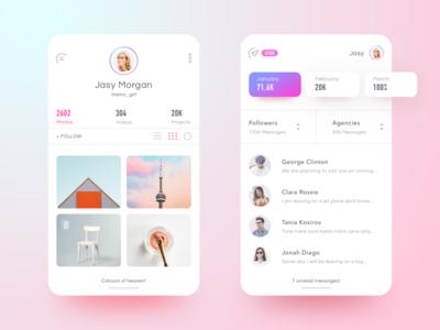 Zedian App Messaging filter ios material design android google google design social user profile dashboard apple minimal design complexion reduction instagram