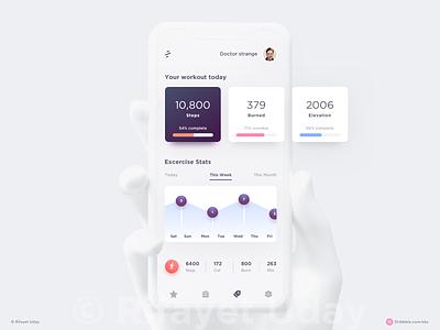 Fitnefy App iphone x sports minimal design apple dashboard user profile social google design google android material design ios