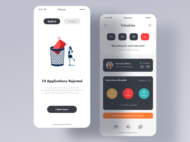Interview App schedule app latest design sketch google material design google google design material design ios app saas design animation branding illustration mobile print product design typography 图标 应用 设计 design art