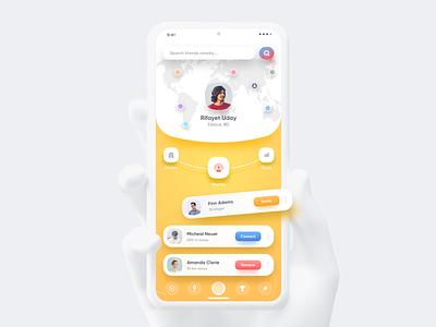 Nearby App Rebound colorful flutter design android app latest design sketch google material design ios app dashboard branding illustration mobile print typography product design web design 图标 应用 设计 animation
