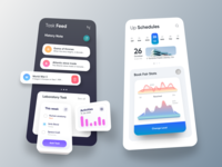 iTask App Stats 3D Dark 3d app design best design dashboard design medical app website design uber google design emirates latest design material design colorful design saas colorful app car app cms apple android app 图标 应用 设计