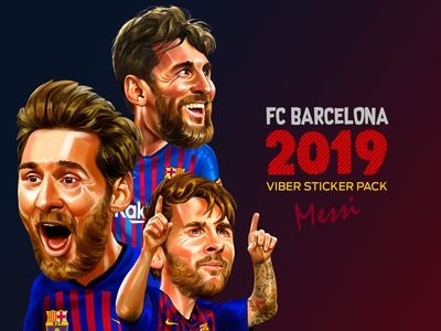 2019 FC Barcelona Viber Sticker pack