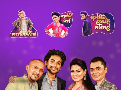 VIber sticker design for Derana television Sri Lanka