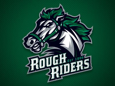 Cedar Rapids RoughRiders Main Logo cedar rapids roughriders hockey sports team identity logo