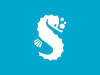 Ms Abby's Swim Logo seahorse swim branding typography concept type vector design brand identity logo