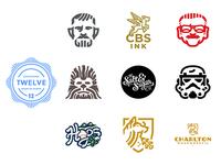 LogoLounge 12 marvel wolf empire stormtrooper chewbacca chewy obi wan kenobi obiwan starwars stanlee logolounge branding typography illustration sports vector design brand identity logo