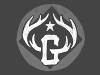 G Antlers Button