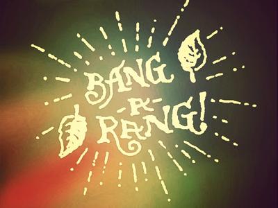 Bang A Rang robin williams type typography hook peter pan rip