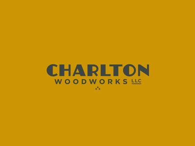 Charlton Horizonal lines thick minimal woodworking dog husky design vector type identity brand logo