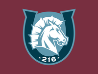 216 Broncos Shoulder Patch Logo