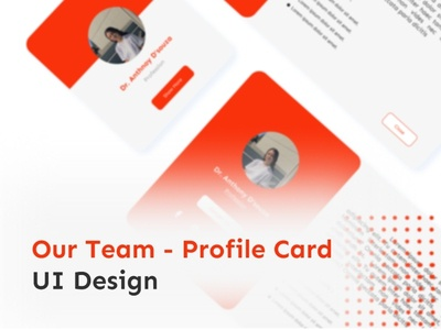 Our Team - Profile Cards, UI Design card product team our team