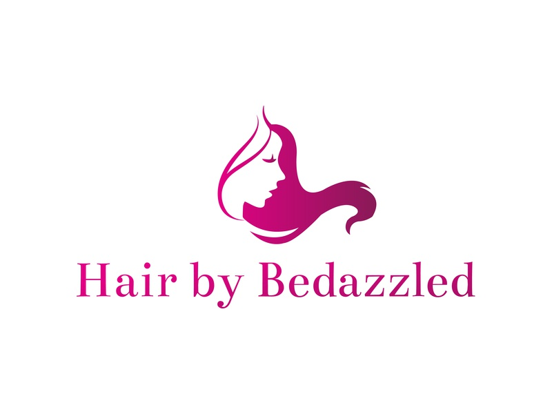Logo design for a beauty saloon named hair by bedazzled creative logo beauty salon creative logo spa beauty salon logo hair salon logo logo design