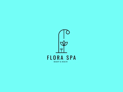 Flora Spa logo design