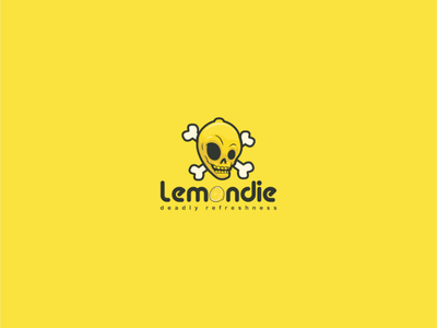 Lemondie desainer logo logo perusahaan branding softdrink food skull lemon illustration brand vector logo