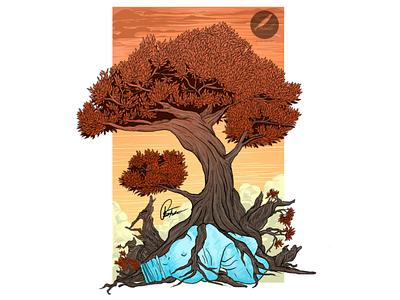 """Survival"" vector brand logo earth global warming plastic tree nature design illustrator illustration"