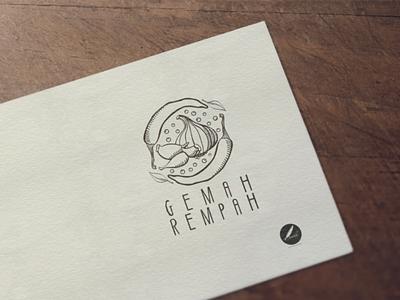 Gemah rempah logo chicken spices food illustration vector band logo