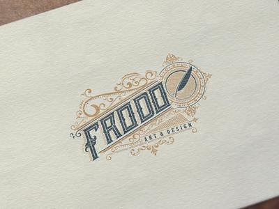 Frodo art & design hand lettering vector brand lettering logo