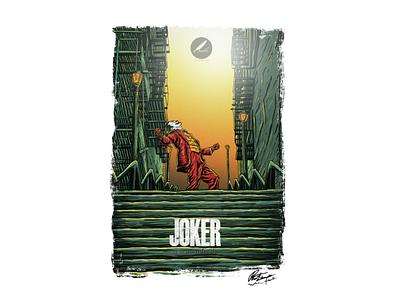 Joker movie poster design desainer logo tshirt dark cover album album art vector poster movie joker illustrator illustration art