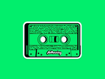 Retro cassette stiker