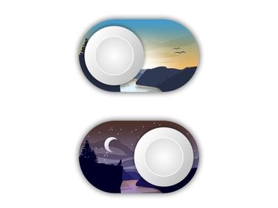 Day and Night Swipe Illustration
